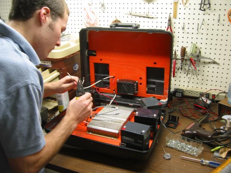 solar powered radio build