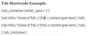 Shortcode Example-Tab
